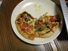 味噌マヨソースのピザ