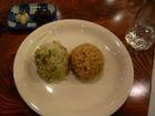 菜飯とひよこ豆の玄米
