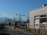 駅前からの富士山