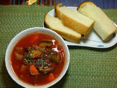 苦い夏野菜スープ