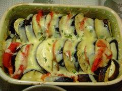 ナスとトマトのオーブン焼き