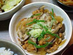 きのこ納豆