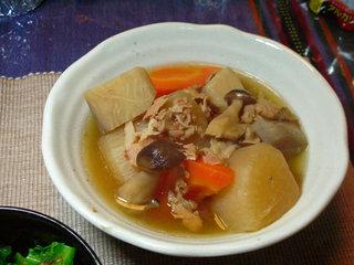 三浦大根と京芋の煮物