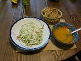 ほうれん草のパスタとキャロットスープ