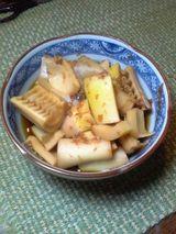 真竹の煮物