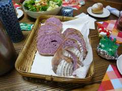 紅芋のパン