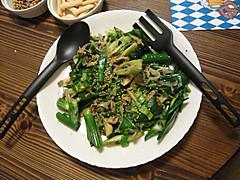 葉タマネギの炒め物