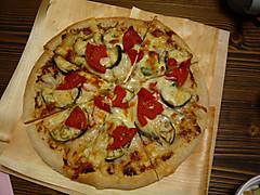 ミョウガのピザ