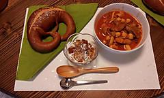 キノコとひよこ豆のスープ