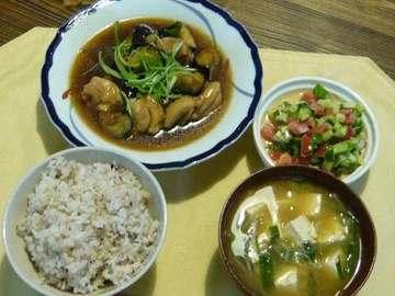 鶏肉とナスの治部煮