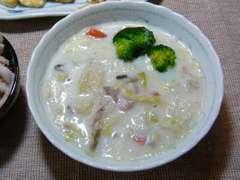 白菜と里芋のシチュー